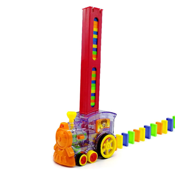 Automatic Domino Brick Laying Toy Train Colorful Plastic Dominoes Set Children Gift Toy Vehicles Set 2020 - mbrbproducts