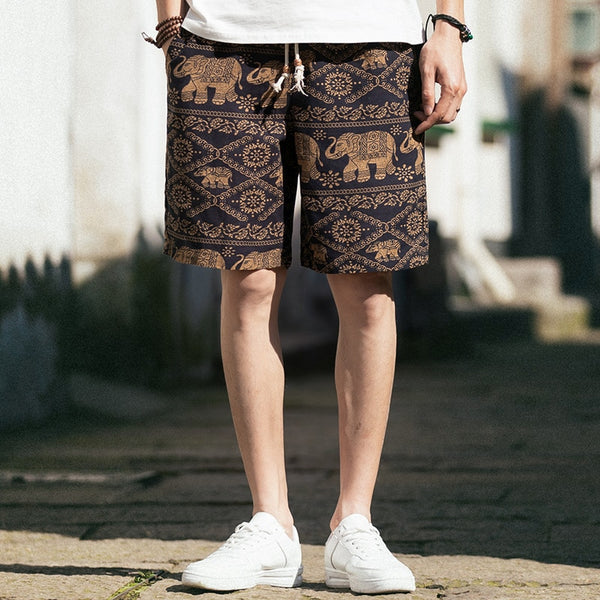 Beach Shorts Men Summer Hawaii Men linen Shorts Loose Straight Comfortable Drawstring 2020 - mbrbproducts