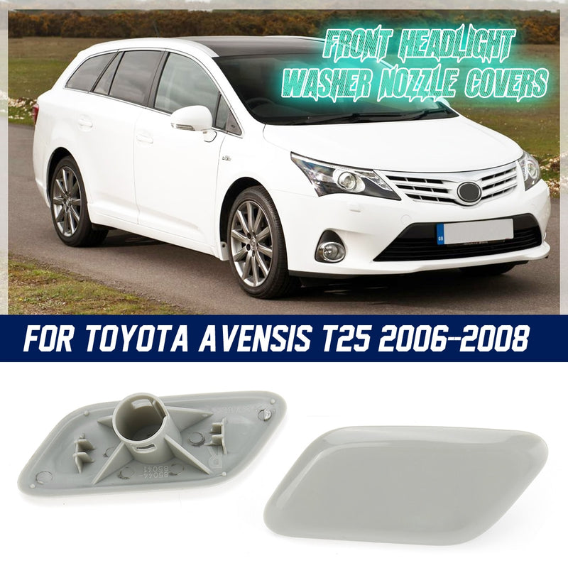 1 Pair Headlight Headlamp Washer Jet Cover Cap Grey For Toyota Avensis 2000-09 - mbrbproducts