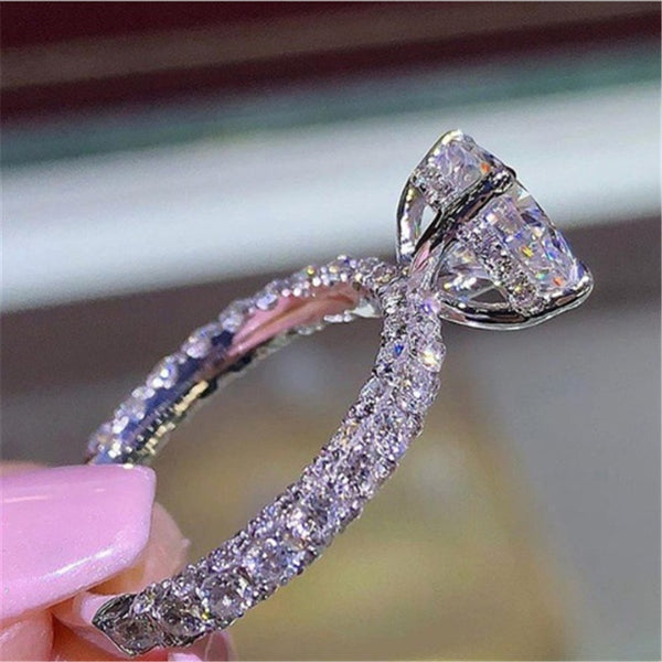Creative fashion women luxury full set zircon princess ring engagement wedding party gift jewelry 2020 - mbrbproducts