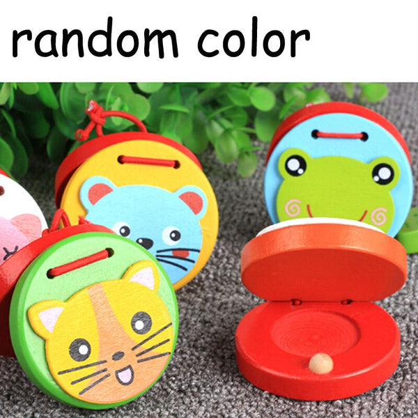 Cute Castanets Musical Instrument Toys Kids Wooden Toys Clapper Handle Baby Development Music 2020 - mbrbproducts