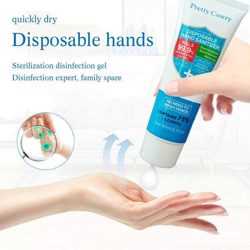 Disposable alcohol-free hand sanitizer with 75% alcohol content 80ml 45 orders - mbrbproducts