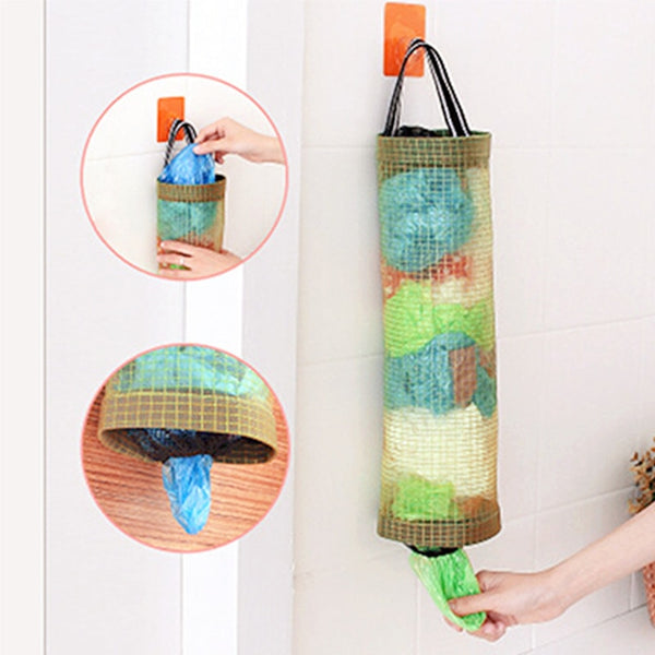 Kitchen Garbage Trash Storage Bag Onion Holder Vegetable Hanging Fruit Ginger Organizer Container - mbrbproducts
