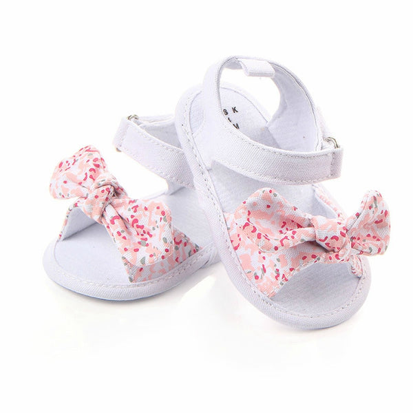 1 Pair Children Baby Kids Boys Girls Shoes Non-Slip Canvas Bowknot Toddlers - mbrbproducts