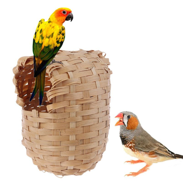 Bird House Hand Made Finch Hideout Cage Toy Outdoor Hut Shelter 2020 - mbrbproducts