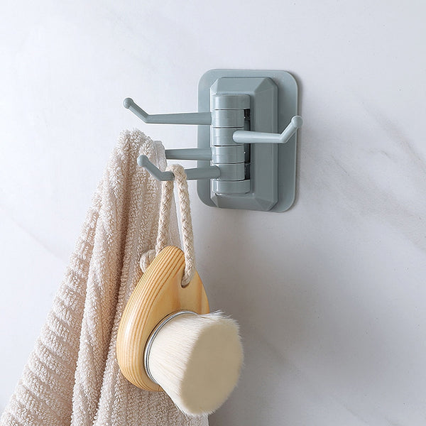 Hook Rotatable Strong Stick Hook Kitchen Wall Hanger Load Bearing 3KG Bathroom Kitchen Hooks TSLM2 2020 - mbrbproducts