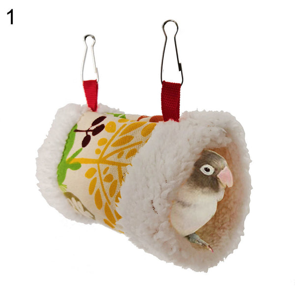 Bird Parrot Nest Soft Plush Bird Parrot Pet Cave Cage Hut Tent Toy House for Small Animals - mbrbproducts