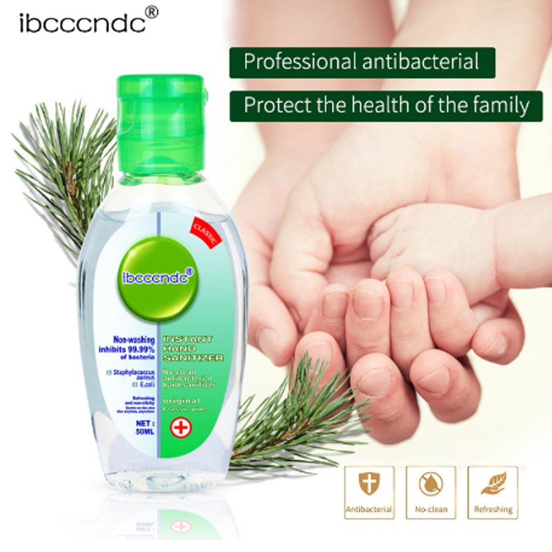 Travel Portable Hand Sanitizer Gel Anti-Bacteria Moisturizing Liquid Disposable No Clean Waterless Antibacterial Hand Gel 50ml - mbrbproducts
