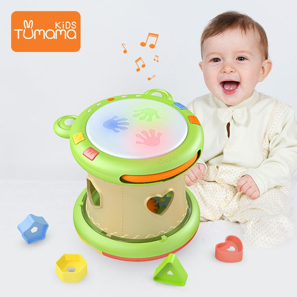 Tumama Baby Music Toys Hand Drums Children Musical Instruments Pat Drum Baby Toys 6-12 Months 2020 - mbrbproducts