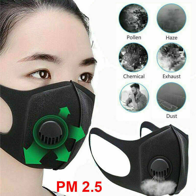 AirPurifying Face Mask Mouth Muffle Filter Washable Anti Haze Fog Respirator LOT - mbrbproducts
