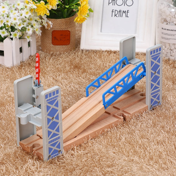 Wooden Train Tracks Railway Toys Set Wooden Double Deck Bridge Wooden Accessories 2020 - mbrbproducts