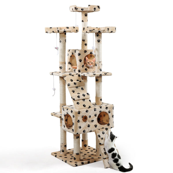 "Cat Tree Tower Condo Furniture Scratching Post Pet Kitty Play House New 67"" - mbrbproducts"