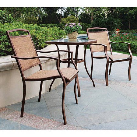 Mainstays Sand Dune 3-Piece Outdoor Bistro Set for Patio and Porch, Tan - mbrbproducts
