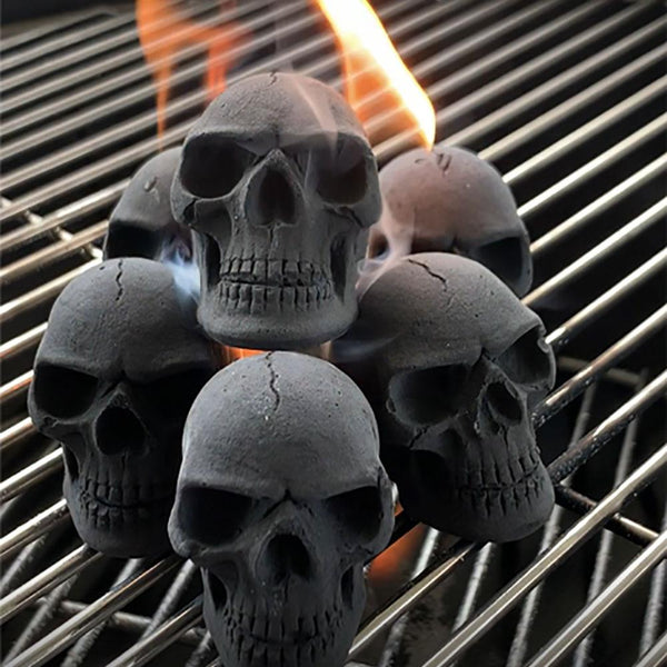 Skull Charcoal Briquettes (6-Pack) - mbrbproducts