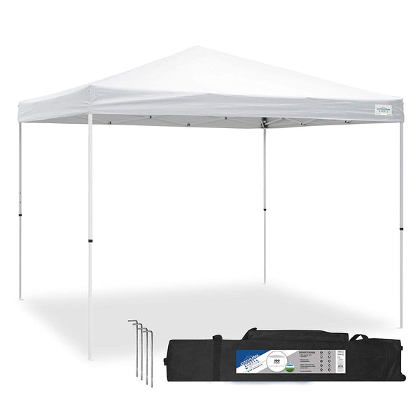 Caravan Canopy Sports V Series 2 Pro 10 x 10 Foot Straight Leg Tent Kit, White - mbrbproducts
