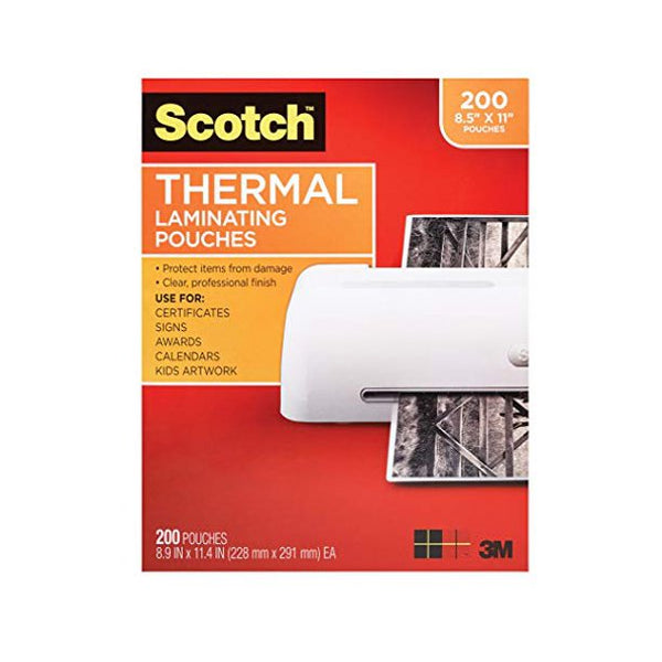 Scotch Thermal Laminating Pouches, 200-Pack - mbrbproducts