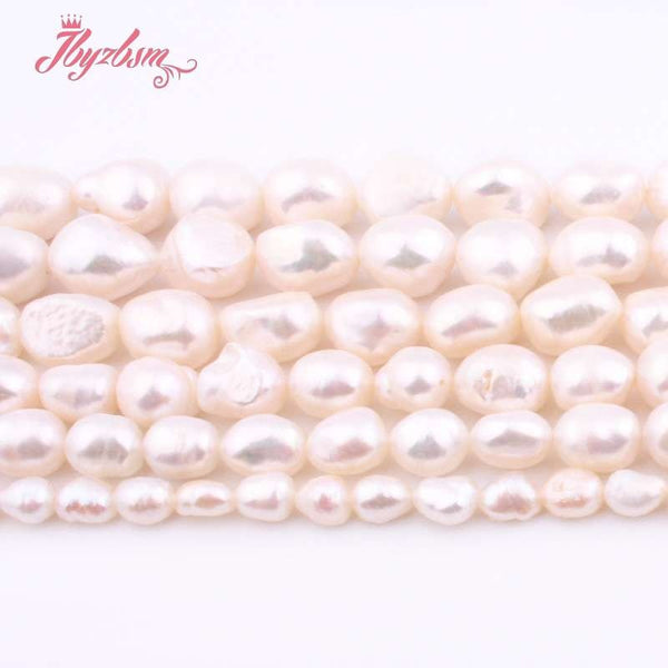 "Pearl Loose Natural Stone Beads For Women DIY Jewelry Making Necklace Bracelet 15"" - mbrbproducts"