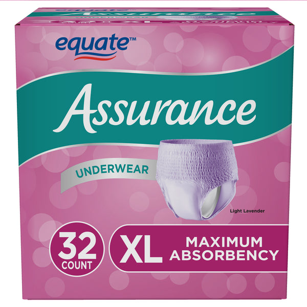 Assurance Incontinence Underwear for Women, Extra Large, 32 Ct - mbrbproducts