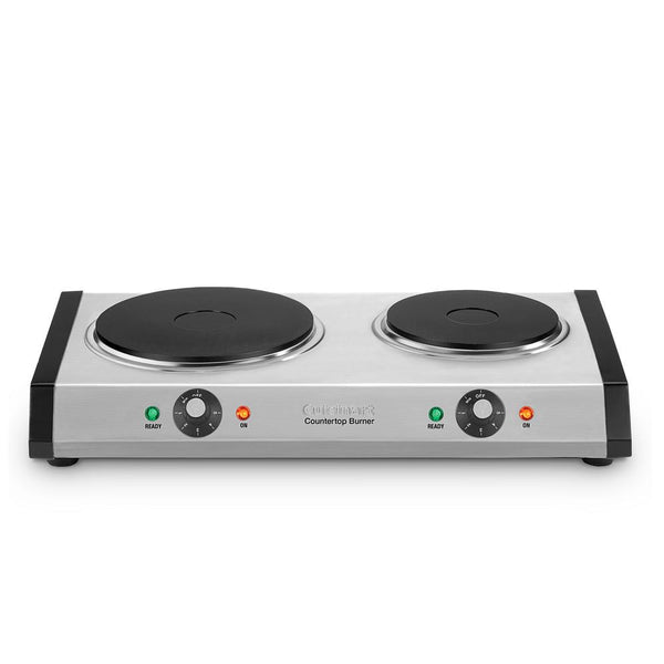 8 in. Cast Iron 2-Burner Hot Plate with Temperature Control - mbrbproducts