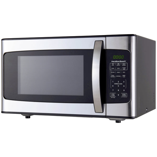 Hamilton Beach 1.1 Cu. Ft. 1000W Stainless Steel Microwave - mbrbproducts