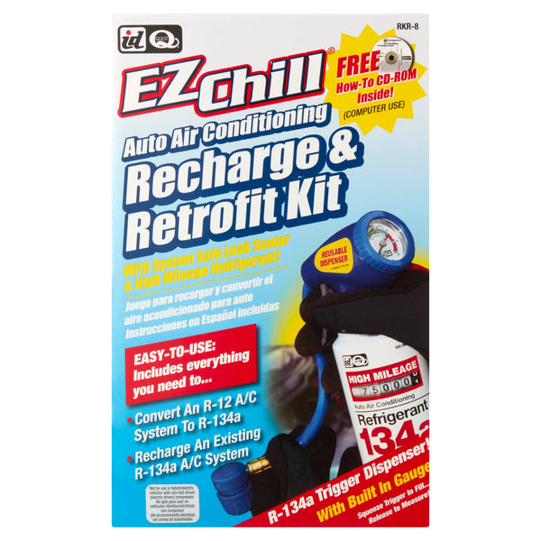 ID Quest EZChill Auto Air Conditioning Recharge & Retrofit Kit - mbrbproducts