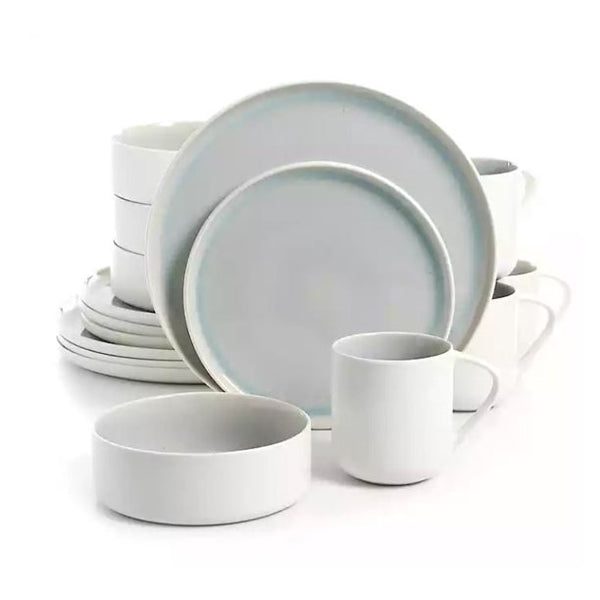 Urban Loft Denia 16-Piece Stoneware Dinnerware Set with for 4 - Dinner and Salad Plates, Bowls, - mbrbproducts