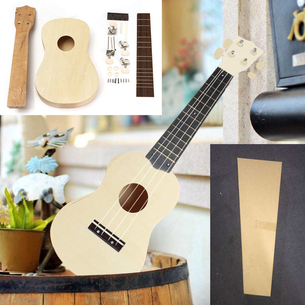 DIY 21''Ukulele Soprano Wooden Musical Instrument Hawaiian Uke Guitar Kit - mbrbproducts