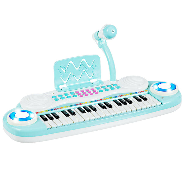 37 Keys Kids Toy Electronic Organ Portable Piano Keyboard w/ Microphone - mbrbproducts