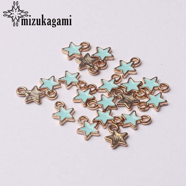 Zinc Alloy Black White Enamel Charms Mini Stars Charms 6mm 50pcs/lot For DIY Jewelry Making Finding Accessories 2020 - mbrbproducts