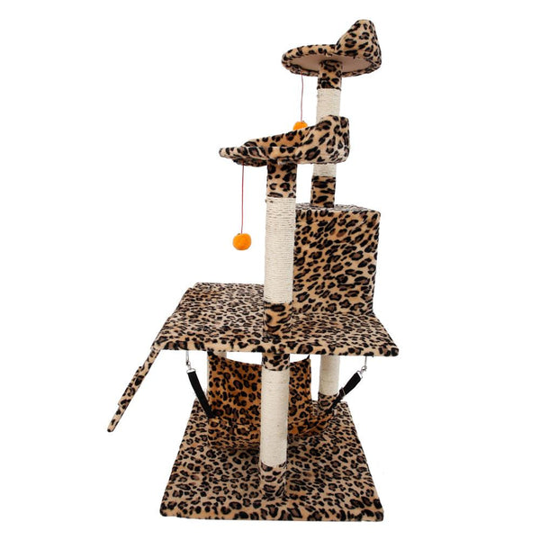 Cat Condo Sisal Furniture Scratching Post Pet House Tree Tower with Hammock Bed - mbrbproducts