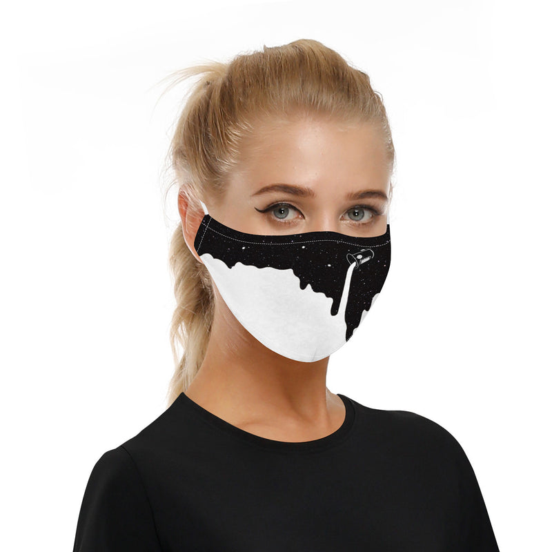 Outdoor Sports Half Face Cover 2 Activated Carbon Filter Breathable Riding Adjustable Windproof Dust Mask - mbrbproducts