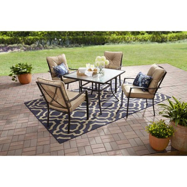 Forest Hills 5-Piece Dining Set, Tan - mbrbproducts
