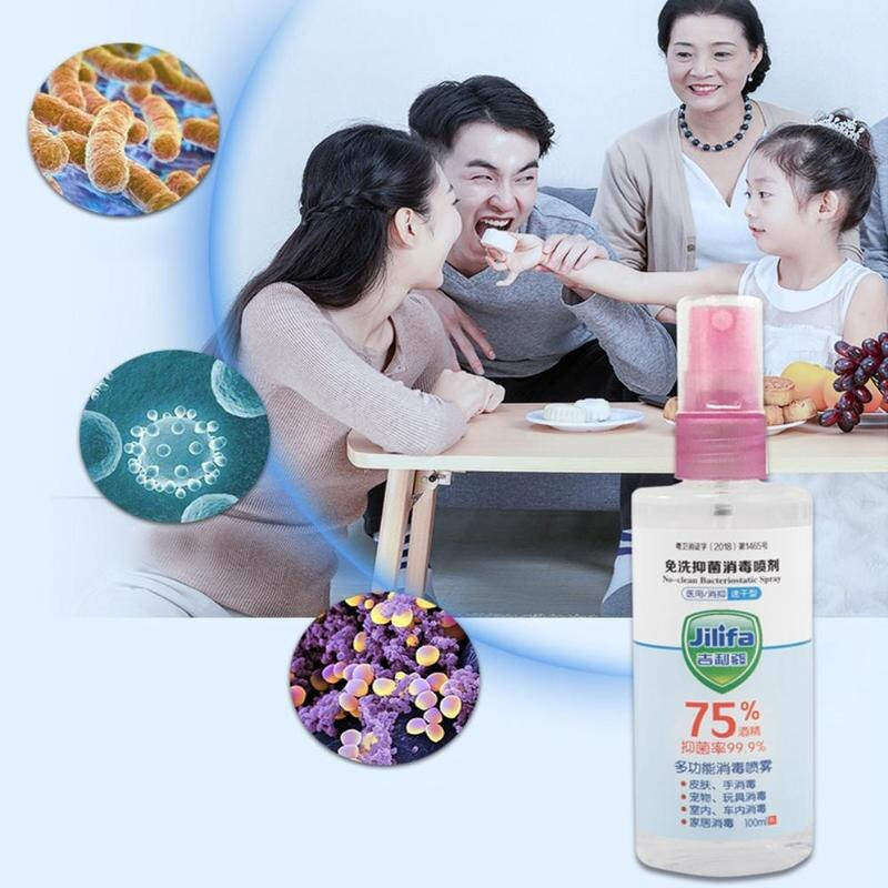 100ML Portable Disposable 75% Alcohol Hand Gel Disinfection Sterilization Hands-Free Water Efficient Disinfection Hand Sanitizer - mbrbproducts