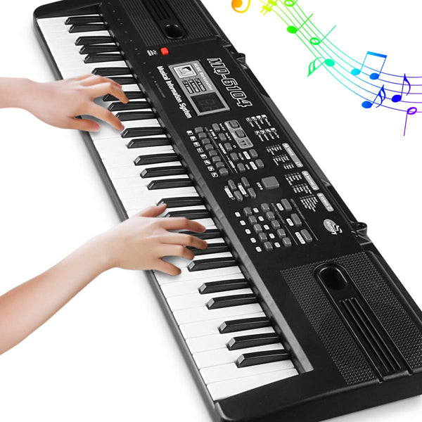 61 Key Keyboard Piano For Kids Children Electric Keyboards Toy For Boy (BLACK-1) - mbrbproducts
