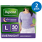 Night Defense Incontinence Overnight Underwear for Women, 2Pack (30 Count (Large)) - mbrbproducts