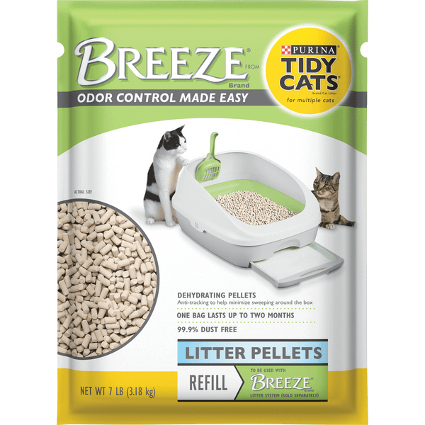 Purina Tidy Cats Litter Pellets, BREEZE Refill Litter Pellets, 7 lb. Pouch - mbrbproducts
