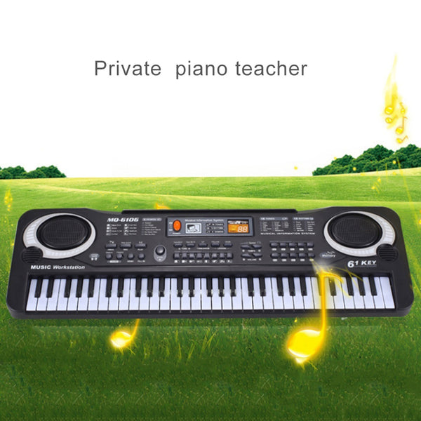 61 Keys Black Digital Music Keyboard Electric Piano Kids Gift - mbrbproducts