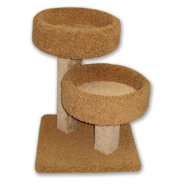 Cat Condo Tower House Tree Post Double Stacker Carpeted - mbrbproducts