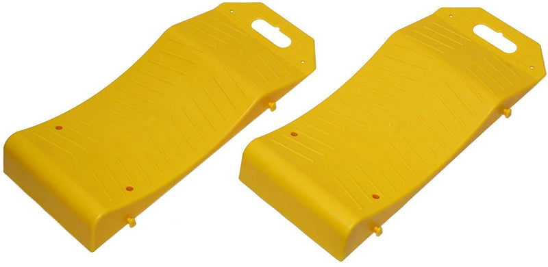 Vehicle Storage Ramp Set Curved Low Profile Ramps Portable Plastic Car Ramps, 2 Pk - mbrbproducts