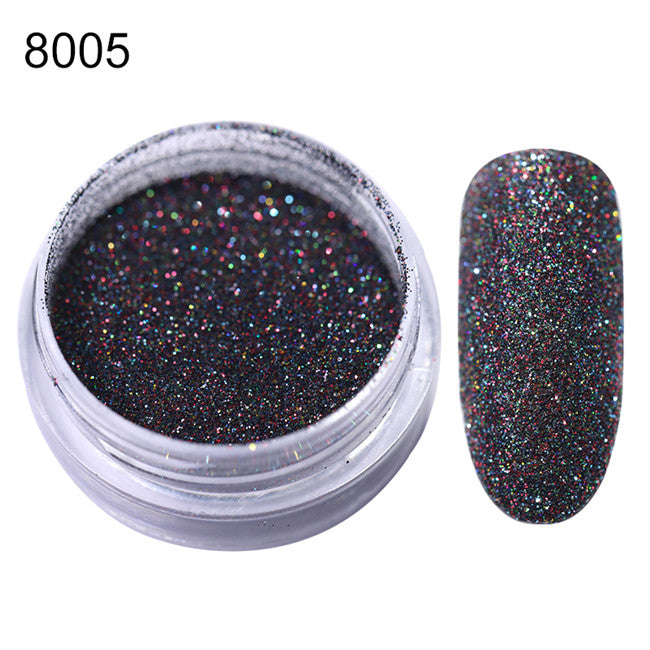 Nail Glitter Set Powder Laser Sparkly Manicure Nail Art Chrome Pigment Silver DIY Nail Art - mbrbproducts