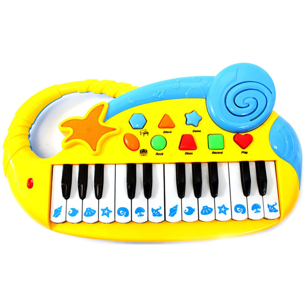 Musical Fun Electronic Piano Keyboard for Kids with Record and Playback Yellow - mbrbproducts