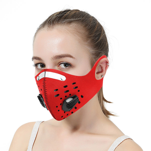Reusable Face Mask Air Purifying Mouth Cover PM2.5 filter face mask - mbrbproducts