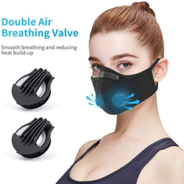 Unisex Cycling Face Mask with 3 Pcs Replaceable Carbon Filter Protective Face Mask Anti-dust Windproof - mbrbproducts