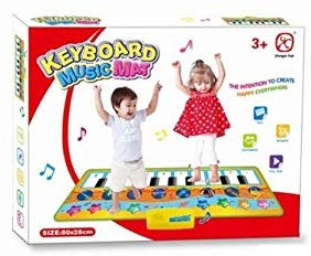Kids Paino Dance Mat Play and Record Musical Floor Keyboard Playmat for Boys and Girls - mbrbproducts