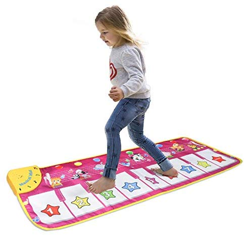Musical Mat,Kingseye Baby Early Education Music Piano Keyboard Carpet Animal Blanket Touch Play Safety Learn Singing Funny Toy for Kids (Purple) - mbrbproducts