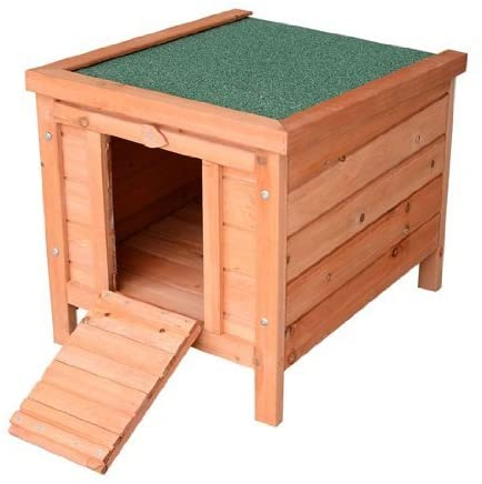 Small Wooden Dog Cage Bunny Rabbit/Guinea Pig House, Natural Wood - mbrbproducts