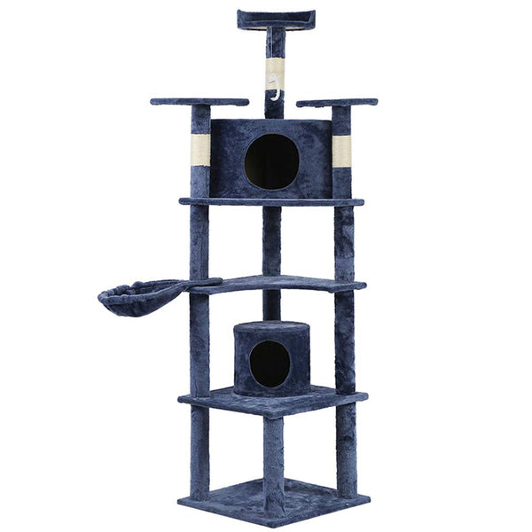 Cat Tree Condo Furniture Scratching Post Pet Cat Kitten House Navy Blue - mbrbproducts