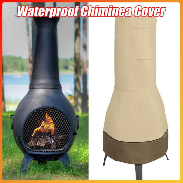 "25""x65"" Patio Cover Waterproof Chimney Fire Pit Heater Cover Veranda Outdoor Garden - mbrbproducts"