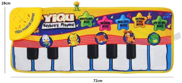 Musical Piano Baby Crawl Mat Animal Educational Music Soft Kick Musical Instrument Toys Touch Play Keyboard Funny Toy for Kids - mbrbproducts