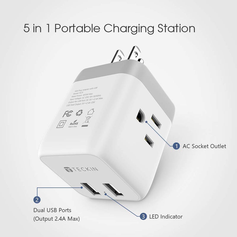 Multi Plug Outlet Extender with USB Ports,Cruise Power Strip Charging Cube Splitter, Travel Cruise Ship Accessories Must Have No Surge Protector - mbrbproducts